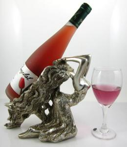 China Polyresin cute decorative wine bottle holder on sale