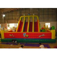 China Red Outdoor Inflatable Amusement Park Playground With Slide For Commercial Rent on sale