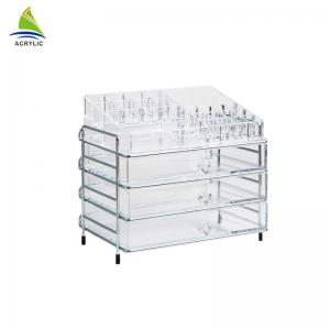 China Plastic Desktop Clear Large Acrylic Cosmetic Organizer on sale