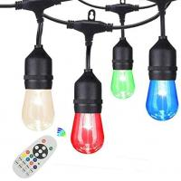 China 48Ft RGB Shatterproof Vintage Edison Bulb Outdoor String Lights on sale