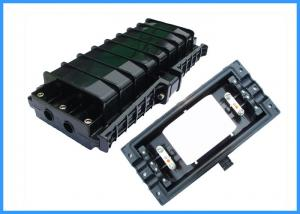 China 48 Cores Fiber Optic Joint Enclosure , Optical Fiber Joint Closure Black Color on sale