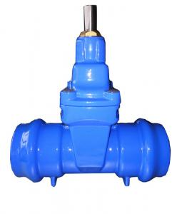 China DN100 Socket end resilient full bore gate valve for PVC Pipe  PN16 on sale