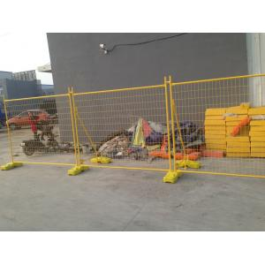 Quality Yellow powder Electrostatic powder Coating Standard Temporary Fencing Panels ,Water Filled Foot 2100mm x 2400mm for sale