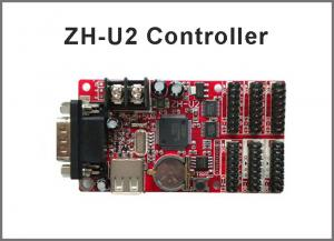 China 5V ZH-U2 P10 LED display module USB control card Single/Dual Color LED Big screen control card on sale
