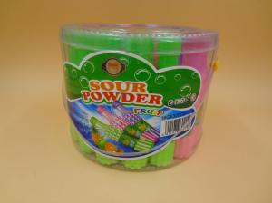 China Fruity Vitamin Sugar Powder Candy Straws Colored Low Calorie Milk Powder Candy on sale