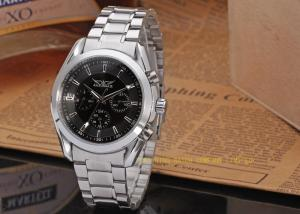 China Mens Automatic Watch Jaragr Fashion And New Silver Stailess Steel Band Watch on sale