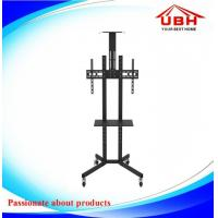 small tv stand  Mobile TV Stand with wall Mount black Office Mobile TV Stand with Castor Wheel