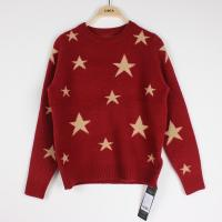 Knit Jacquard Sweaters Star pattern Cindy Red Plus Size Clothes