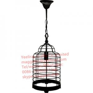 China YL-L1086 antique black Cheap industrial bird cage iron vintage chandelier for home decorative on sale