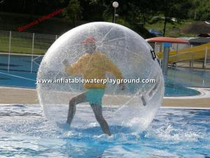 China Clear 2m Inflatable Human Hamster Ball , Backyard Pool Water Sphere Ball on sale