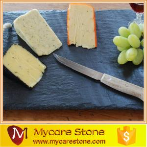China slate cheese board ,black slate cheese board ,square slate cheese board on sale