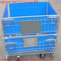 Folding Wire cage/industrial storage cabinets/security cage/pallet cage/metal bin/steel storage cabinets/cage storage