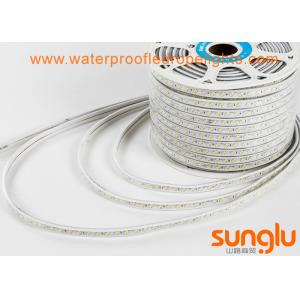 China Cold White Flexible LED Rope Lights Double Rows 6500K 5730 120D For Car Decoration on sale