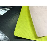Dubont Paper Coated PU Synthetic Leather Neon Yellow Color Normal Tearing Strength