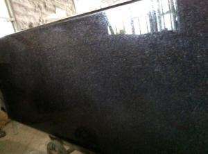 China Encimera negra del granito de la cocina de la perla on sale