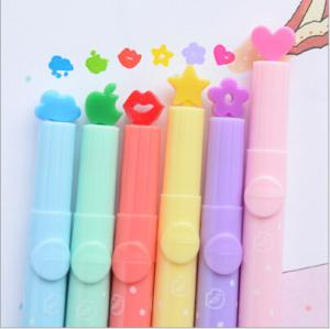 China Creative Candy Color Oblique Highlighter Marker Pens Graffiti Stationery for School office on sale