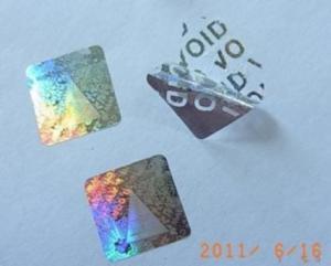 China Void Tamper Evident Hologram Sticker on sale