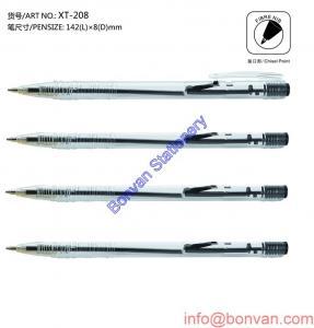 China stylo latéral de stylo à bille de petit prix de clic, stylo de boule promotionnel de don on sale