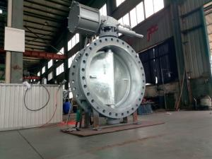 China DN1200 High Performance Butterfly Valves , WCB Double Eccentric Butterfly Valve on sale
