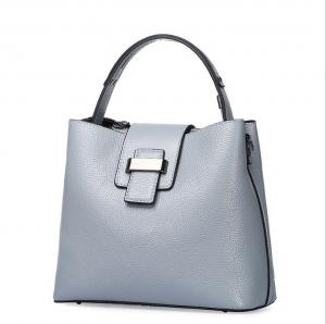 China buckets tote bags first layer leather lady handbags simple crossbody bag on sale