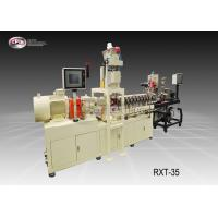 China Laboratory Mini Plastic Extrusion Machine Reinforcing Or Compounding 35mm Screw Diamater on sale