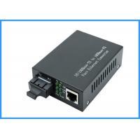 10 / 100Mpbs SC Optical Network Media Converter 20KM Single Mode 9 / 125um Type