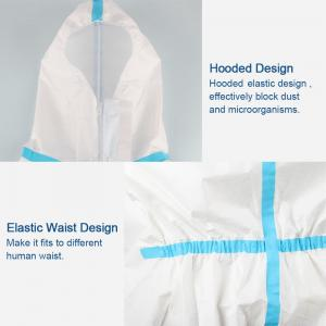 China Splash Repellent Disposable Protective Clothing , Non Woven Disposable Protective Coveralls on sale
