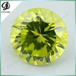 Factory price cubic zirconia gemstone apple green fake gems for clothing decoration