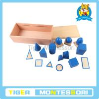 Montessori sensorial materials,wooden toys,educational toys for kids-Geometric Solids with