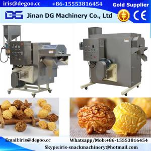 China China factory made food business industrial caramelized chocolate the popcorn coated machine/air popped equipment plant on sale