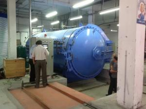 China Rubber Vulcanizing Autoclave Rubber Autoclave Composite Autoclave With Safety Interlock And Siemens PLC Control on sale