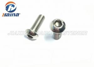 China Hexagon Socket Button Head Stainless Steel Machine Screws , Hex Head Screws ISO7380 on sale