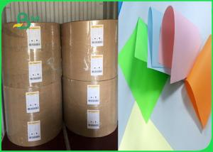 China Width 61 × 86cm Feel Good Bright Colors 80gsm 90gsm Colored Offfset Paper In Roll on sale