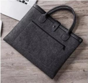 China Durable business laptop briefcase bag conference felt laptop bag for men women on sale