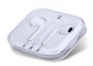 China TPE Mobile Cell Phone Accessories Wired Iphone Earphone With Bluetooth Mic on sale