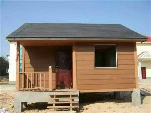 China Water - Proof Ecology Wood Cladding House In Walnut / Red Wood / Coffee Color on sale