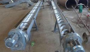 China Concrete Spiral Stainless Steel Screw Conveyor For Wasters Wet Material Viscidity on sale