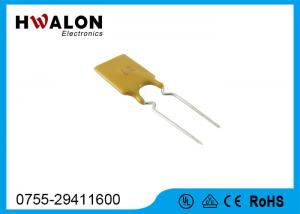 China 16V 8.9mm 40A Thermal Fuse Resettable PPTC in Yellow , Rectangular Shape on sale