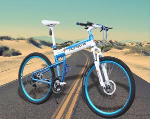 China 21 Speed Disc Brake Aluminum Folding Mountain Bike on sale