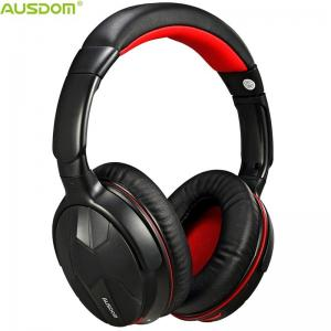 China Ausdom M04S Over Ear Lightweight Adjustable Comfortable HiFi DWS NFC Powerful Deep Bass Durable Bluetooth Headphone on sale