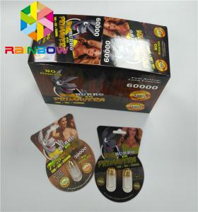 China Normal Size Plastic Blister Packaging Burro 30000 Burro2 6000 Sex Male Enhancement Box on sale