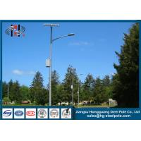 China Street Lighting Steel Pole Exterior Lamp Posts With Galvanization And Powder Coated on sale