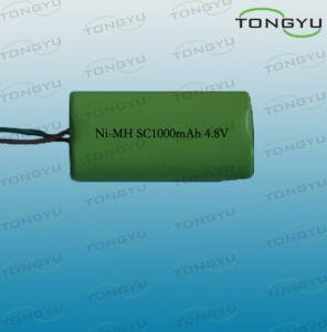 China 4.8V 1000mAh SC NiMh Rechargeable Battery Pack for LED Lights , Digital Cameras on sale