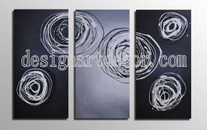 China Free shipping 3 set Hot Sell Hand Painted Abstract oil paintings Home Decorative Wall art Stretched oil paintings op405 on sale