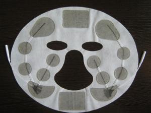 China Многоразовая слипчивая пусковая площадка массажа, белая польза маски красоты Глаз-заботы, электрод ухода за лицом 23*18км on sale