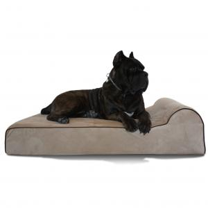 China Big Dog Bolstered Memory Foam Pet Bed , High Density Memory Sleeper Dog Bed  on sale