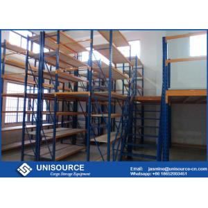 China Extended Rack Supported Mezzanine Powder Coated Size Customized For Industrial on sale