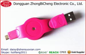 China USB Colorful Retractable Micro Battery Charger Data Cable For Android Cell Phone on sale