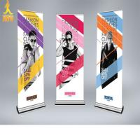 exhibition rolling banner , display hanging banner with banner stand