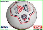 Seamless Laminated Practice Soccer Balls , Rainbow PU Football